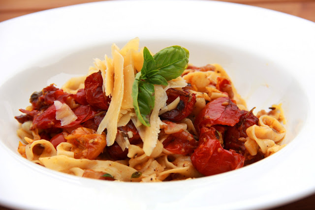 Roasted Tomato and Pancetta Tagliatelle | With Love, Mags